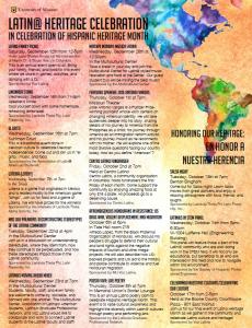 Latin@ Heritage Month Calendar